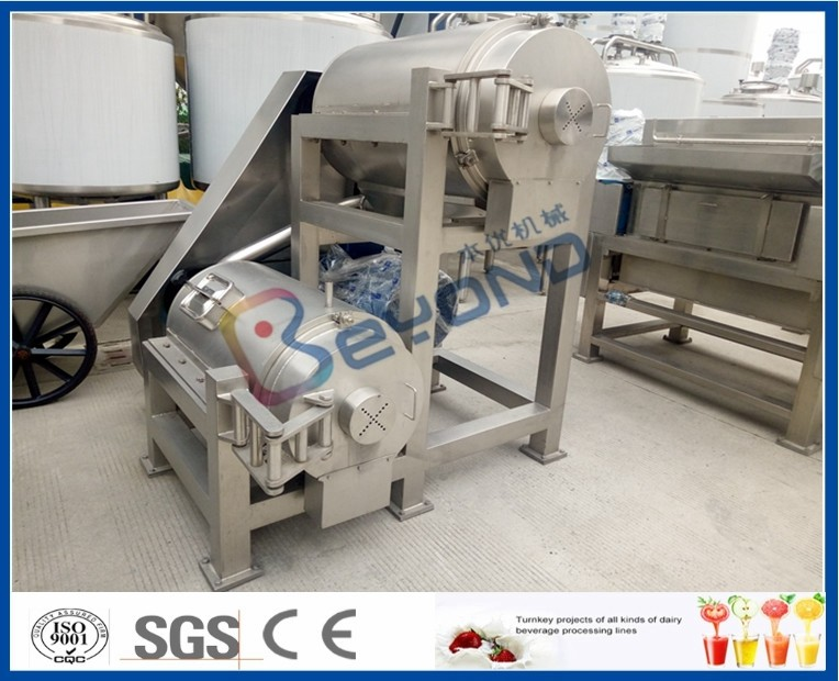 Double Stage Fruit Pulper Machine , Mango Pulping Industrial Juice Extractor Machines