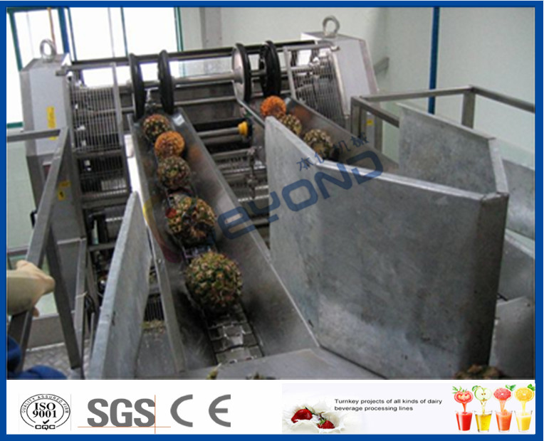 Fully Automatic PLC Control Pineapple Processing Line For Fruit Juice Processing Machines